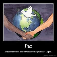 no importa quien eres siempre tienes que dar la paz a todo el mundo.