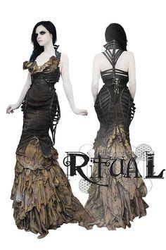 apocolyptic goth dress .. cool