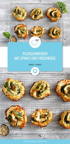 Pizza snails with spinach and cream cheese - Vegetarian pizza snails with spin . - Pizza snails with spinach and cream cheese – Vegetarian pizza snails with spinach and … – - Hamburger Meat Recipes, Sausage Recipes, Hamburger Pizza, Easy Cake Recipes, Pizza Recipes, Drink Recipes, Deep Dish Pizza Recipe, Simply Yummy, Vegetarian Pizza