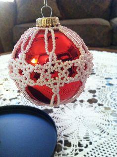 Snow Flake Beaded Ornament