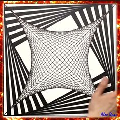 3d Art Drawing, Art Drawings Sketches Simple, Pencil Art Drawings, Painting & Drawing, Illusion Drawings, Illusion Art, Optical Illusions Drawings, Pintura Graffiti, Op Art Lessons