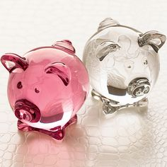 Baccarat Fine Crystal Jewelry, Lighting & Gifts for Special Occasions - US Official Site Cute Baby Pigs, Cute Babies, Tout Rose, Baccarat Crystal, This Little Piggy, Crystal Gifts, Glass Animals, Animals Of The World, Pretty In Pink