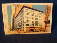 Postcard:  Arnold Constable & Co Department Store, Fifth Ave and 40th St, NYC. 1930s.