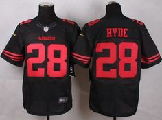 e85e9473a Nike 49ers  28 Carlos Hyde Black Alternate Men s Stitched NFL Elite Jersey  And  Broncos