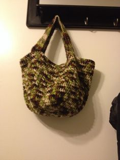 Another Crocheted Planter/tote bag!  Very pleased with this one love the rounded bottom!