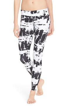 High style meets high performance in these black and white leggings designed for flexibility and comfort.