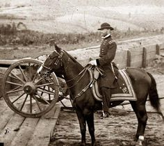 Above we show a vital photo of Atlanta, Georgia  General William T. Sherman on horseback at Federal Fort No. 7.  These photographs are of Sherman in Atlanta, September-November, 1864.