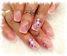 ❤ lindas ❤ Glam Nails, Fancy Nails, Bling Nails, Beauty Nails, Stylish Nails, Trendy Nails, Short Nail Designs, Nail Art Designs, Nail Ink
