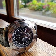 Today's Helfer timepiece, the Diver Chrono Professional. Swiss Valjoux, ETA 7750 In- House Elaborated, 100 meters water resistance and 12 year International warranty. Register your interest at helferwatches.com.au - Link in bio. #helferwatchesaus #swissmade