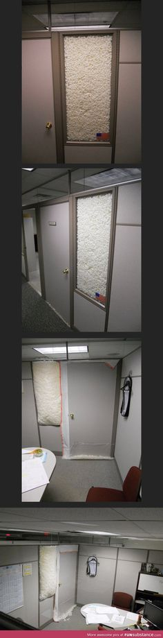 Hilarious office prank - ill try this somedayyyy