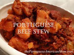 Portuguese Beef Stew Vovo recipe but I add a little chicken bouillon too.