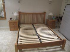 OAK SOLID KING SIZE DOUBLE BED | eBay