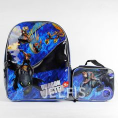 How-to-Train-Your-Dragon-Blue-Sky-Boys-16-Large-Backpack-with-Attach-Lunch-Bag