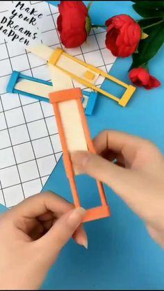 Cool Paper Crafts, Paper Flowers Craft, Paper Crafts Origami, Diy Crafts Hacks, Diy Crafts For Gifts, Fun Crafts, Diy Paper, Instruções Origami, Origami Knife