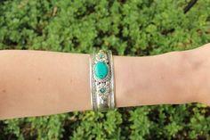 Bohemian turquoise adjustable cuff $9.95 USD  #boho #gypsy #bohojewelry #hippiejewlery #gypsyjewelry