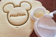Mickey Mouse PERSONALIZED cookie and fondant cutter by ThreeDGeek on Etsy https://www.etsy.com/listing/232456475/mickey-mouse-personalized-cookie-and