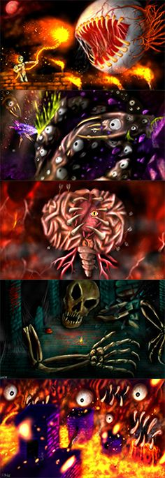 Terraria : 5 Bosses by BlacksmithOWY on DeviantArt