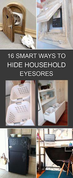 16 Smart Ways To Hide Household Eyesores