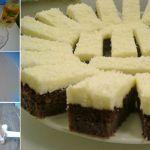 Ingrediente Pentru Blat: -5 linguri de făină, -4 linguri de cacao, -9 linguri de zahăr, -1 praf de copt, -8 ouă, -125 ml apă minerală, -3 linguri de ulei Pentru crema: -1 plic budincă de frişcă sau vanilie, -1 pachet de unt (200 g), -8 linguri Romanian Desserts, Romanian Food, Sweets, Recipes, Cook, Pie, Birthday, Gummi Candy, Candy