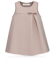 Baby Dior-PINK AND TAUPE DOUBLE-SIDED CASHMERE DRESS