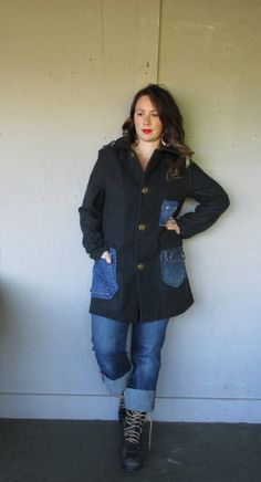 Hey, I found this really awesome Etsy listing at https://www.etsy.com/listing/213022319/l-plus-upcycled-wool-jacket-coat