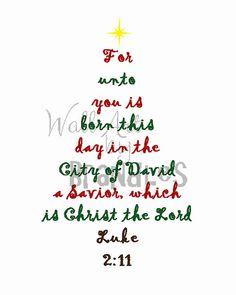 Christmas Art - Scripture Tree