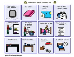 At Home Schedule and Activity Cards Pictures for Visual Schedule and In-Task Support Boards