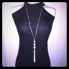 Tea and Cup - Black Fitted Knit Dress 60% cotton and 40% acrylic knit dress. The perfect little black dress. It can be dressed up or down. The necklace also available in my closet. Get the look. Tea n Cup Dresses