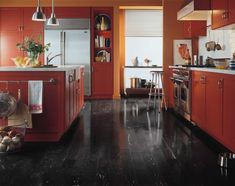 Kitchen flooring idea : Maple - Black by Armstrong Hardwood Flooring