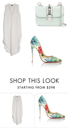 """""""<3"""" by martina-vacca ❤ liked on Polyvore featuring OTTE, Christian Louboutin and Valentino"""