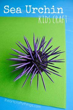 Sea Urchin Kids Craft | I Heart Crafty Things