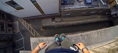 First Person Parkour - If you ever wanted to compare how spot on the free-running of Mirror's Edge was, take a view from the rooftops from this POV Parkour video of Cambridge, UK. Parkour, Gopro, Cambridge University, Cambridge Uk, Extreme Sports, The Incredibles, Mirror's Edge, Crazy Video, Modern Art