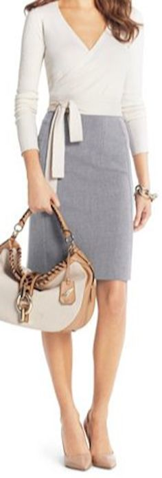 heather grey pencil skirt  http://rstyle.me/n/fcgb2pdpe