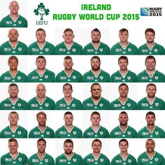 Here's the Ireland Rugby World Cup squad Ireland Rugby, Irish Rugby, Rugby World Cup, Squad, My Love, Life, Boys, Green, Baby Boys