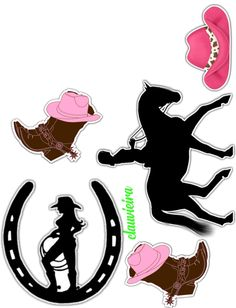 Cowgirl Party, Cowboy And Cowgirl, Bear Valentines, Western Parties, Cake Images, Art Template, Cake Toppers, Westerns, Minnie Mouse