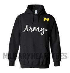 Army sweatshirt Custom Military Shirt for Air by MilitaryHeartTees, $35.00