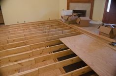 Fix a sunken living room. drop-down floors | dinning room ...