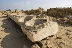 """Also at Abu Ghurob in Egypt, these quartzite bowls, each of which has a precision hole drilled into the side. Clearly not the work of the dynastic Egyptians using """"bronze chisels and stone hammers. This is Lost Ancient Technology hard evidence: http://khemitology.com/ ... see Brien Foerster on Facebook"""