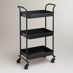 One of my favorite discoveries at WorldMarket.com: Espresso Austin Metal 3-Tier Cart