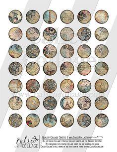 Printable Travelin' Through Bottlecap Images 1 Inch