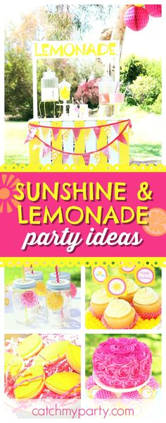 Don't miss this colorful Shineshine & Lemonade birthday party! The lemonade stand is so cool!! See more party ideas and share yours at CatchMyParty.com