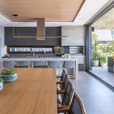Open Plan Kitchen Living Room, Kitchen Room Design, Modern Kitchen Design, Home Decor Kitchen, Modern House Design, Interior Design Kitchen, Home Kitchens, Diy Kitchen, Kitchen Ideas