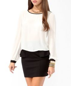 Shoulder Epaulette Blouse | FOREVER 21