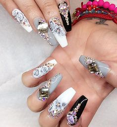 I would not do this to my nails. But its pretty cool.
