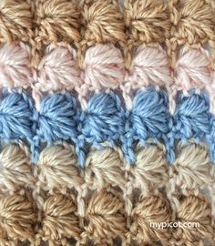 MyPicot | Free crochet patterns; many free patterns: simple & textured, multi-color- openwork & lace, edgings & motifs among others