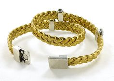 Gold and Silver Buddha Bracelet Zen Braided от siriousdesign