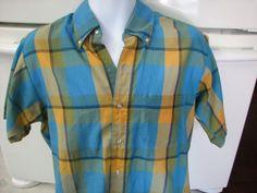1950s 1960s vintage plaid shirt men's medium All American Clean cut suburbia | Clothing, Shoes & Accessories, Vintage, Men's Vintage Clothing | eBay!
