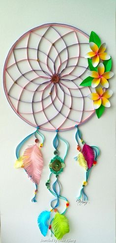 Unknown artist- Quilled Dreamcatchers - Searched by Châu Khang