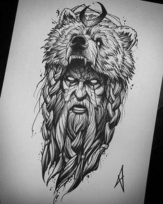 Excellent available flash! - Excellent available flash! Hai Tattoos, Skull Tattoos, Animal Tattoos, Body Art Tattoos, Viking Tattoo Sleeve, Norse Tattoo, Viking Tattoos, Armor Tattoo, Viking Tattoo Design