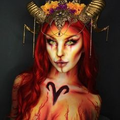 Are you looking for some scary and unique Halloween makeup ideas? Look at our gallery. We have handpicked shocking makeup looks for Halloween Women Sfx Makeup, Cosplay Makeup, Costume Makeup, Makeup Art, Makeup Ideas, Beauty Makeup, Unique Halloween Makeup, Halloween Makeup Witch, Halloween Make Up